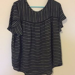 Black and white striped blouse!